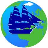 Żeglowanie ship-14 Obrazy Royalty Free