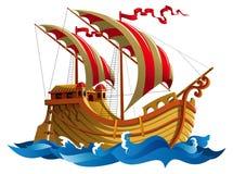 Żeglowanie statek royalty ilustracja