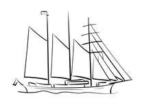 Żeglowanie statek ilustracja wektor