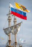 Żeglowanie statek - flaga Zdjęcie Royalty Free