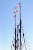 Żeglowanie statek w Długim plażowym Los Angeles Fotografia Stock