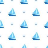 Żeglowanie statków wzór Zdjęcia Royalty Free