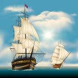 Żeglowanie statki ilustracja wektor