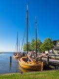 Żeglowanie statki w Ahrenshoop Obrazy Stock
