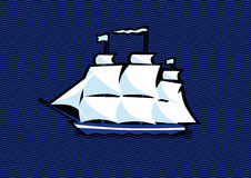Żeglowanie statku fregata Fotografia Royalty Free