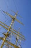 ŻEGLOWANIE statku maszt - KRUZENSZTERN Fotografia Royalty Free