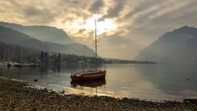 Żeglowni wysokogórscy jeziora Fotografia Royalty Free