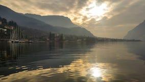 Żeglowni wysokogórscy jeziora Obrazy Royalty Free