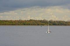 Żeglujący na Veere jeziorze holandie Zdjęcia Stock