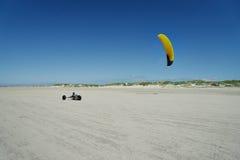 Żegluje zapluskwionego jeżdżenie na plaży st peter Zdjęcie Stock