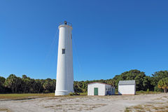 The Egmont Key lighthouse in Tampa Bay, Florida Royalty Free Stock Image