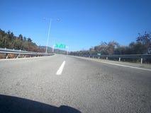 Egnatia międzynarodowa autostrada w Grecja obraz stock