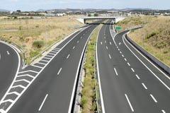 Egnatia motorway in Greece. Interchange on egnatia motorway in Greece Royalty Free Stock Photography