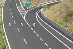 Egnatia motorway in Greece. Interchange on egnatia motorway in Greece Royalty Free Stock Images