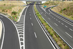 Egnatia motorway in Greece. Interchange on egnatia motorway in Greece royalty free stock images