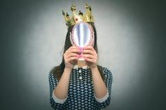 Egoïstische vrouw Egoïstische persoon royalty-vrije stock foto's