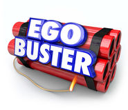 Ego Buster Dynamite Bomb Discouraging Feedback Criticism Stock Image
