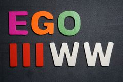 Ego IIIww stock foto