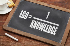 Ego and knowledge concept Royalty Free Stock Photography