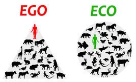 Ego und eco Stockfotos
