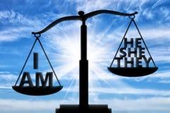Egoistisches und Egoistkonzept stockbild