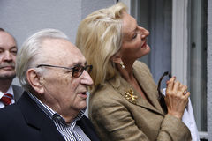Egon Bahr, Desiree Nick Lizenzfreie Stockbilder