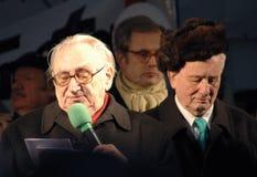 Egon Bahr, Rolf Hochhuth Stockbild