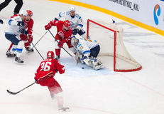 Egor Voronkov (59) attack Alexey Ivanov (28) Royalty Free Stock Photo