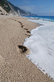 Egremni beach royalty free stock image