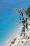 Egremni beach, Lefkada, Greece Royalty Free Stock Image