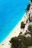 Egremni beach at Lefkada, Greece Stock Photo