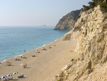 Egremni beach Lefkada Greece. Royalty Free Stock Photography