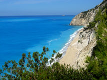 Egremni beach Lefkada Greece Royalty Free Stock Photos