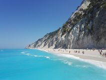 Egremni beach on Lefkada, Greece royalty free stock photo