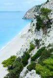 Egremni beach (Lefkada, Greece) Stock Photography