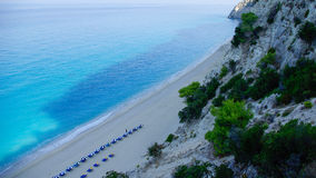 Egremni beach in Lefkada, Ionion sea, Greece Stock Photos