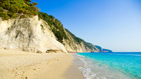 Egremni Beach, Lefkada Island, Ionion Sea, Greece Royalty Free Stock Image