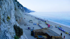 Egremni Beach, Lefkada Island, Ionion Sea, Greece Stock Image