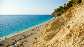 Egremni Beach, Lefkada Island, Ionion Sea, Greece Royalty Free Stock Photography
