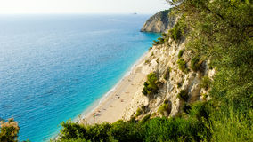 Egremni Beach, Lefkada Island, Ionion Sea, Greece Stock Photos