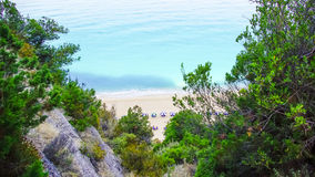 Egremni Beach, Lefkada Island, Ionion Sea, Greece Royalty Free Stock Photos
