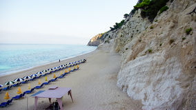 Egremni Beach, Lefkada Island, Ionion Sea, Greece Stock Images