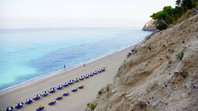 Egremni Beach, Lefkada Island, Ionion Sea, Greece Royalty Free Stock Images