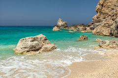 Egremni beach in Lefkada Royalty Free Stock Photo