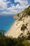 Egremni beach, Lefkas, Greece Stock Images