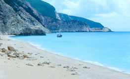 Egremni beach summer view (Lefkada, Greece) Royalty Free Stock Photo