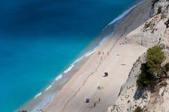 Egremni beach. View at Egremni bech Lefkada Greece Stock Image