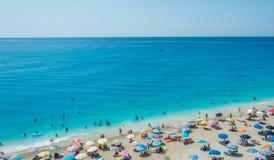 Egremni plaża Fotografia Stock
