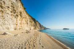 Egremni-Strand, Griechenland Lizenzfreie Stockfotografie
