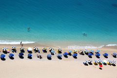 Egremni strand, Lefkada ö royaltyfria foton